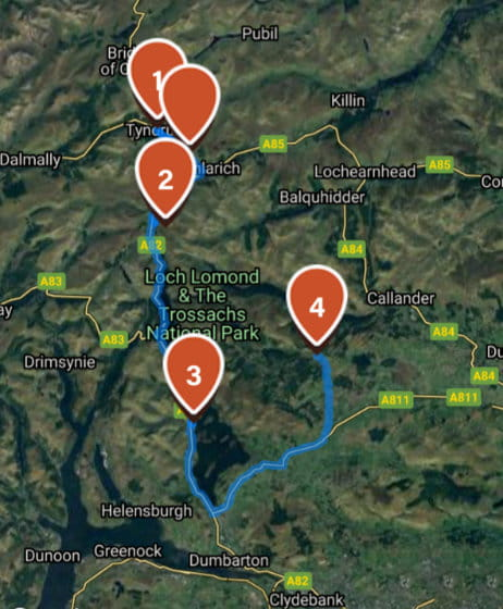 Green Welly route map