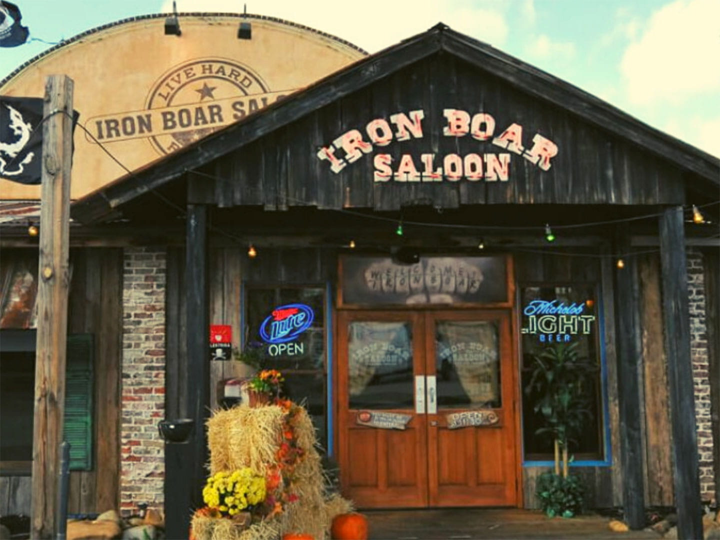 Front of the Iron Boar Saloon